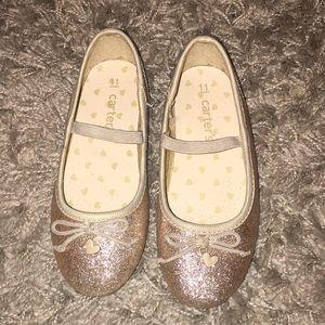 Carter's girls gold ballet flats